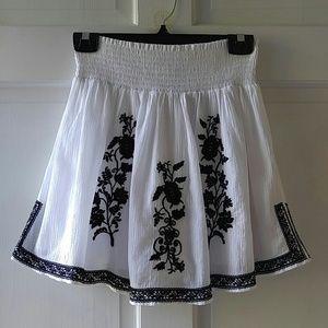 J. Crew Embroidered Skirt
